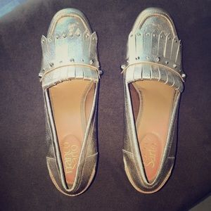 Franco Sarto gold loafers
